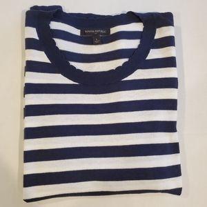 BANANA REPUBLIC Navy & White Striped Sweater